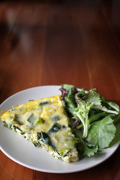 Leek and parmesan fritatta | heoyeahyum.com