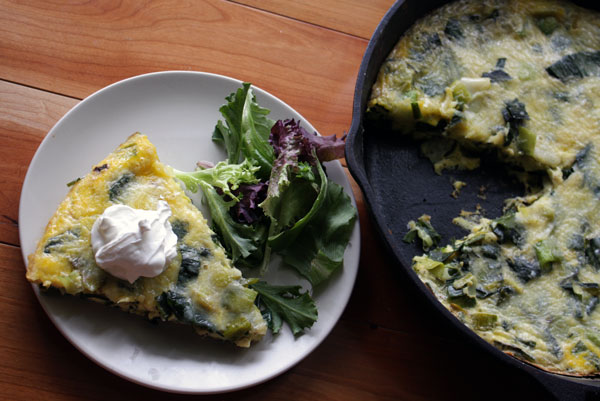 Leek and parmesan fritatta | heoyeahyum.com