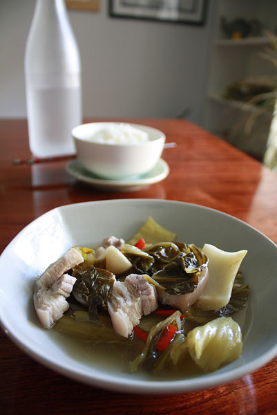 Pork and pickled greens soup | heoyeahyum.com