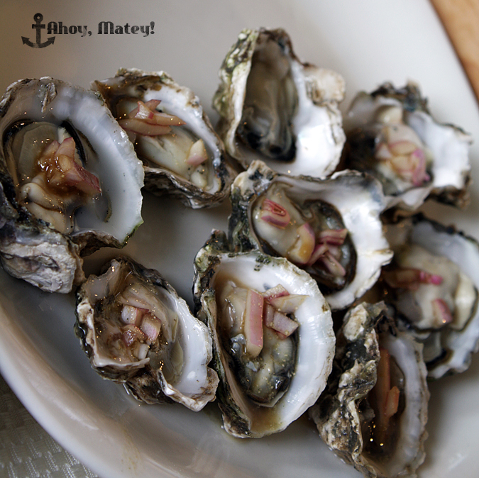 oyster with soy mignonette